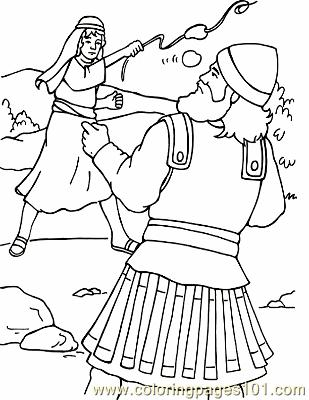 David And Goliath 4 Coloring Page