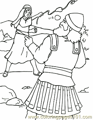 David And Goliath 5 Coloring Page