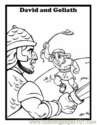 David And Goliath 7 Coloring Page