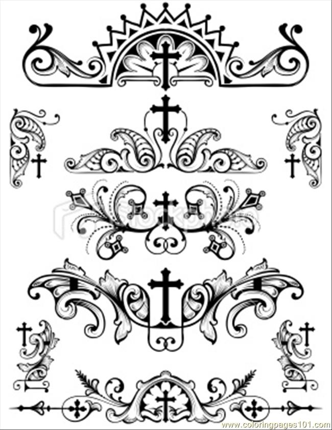 christian symbols coloring pages - photo#30