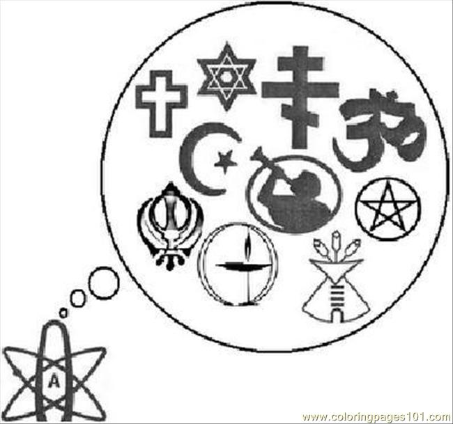 Isatheismareligionnt0 Coloring Page