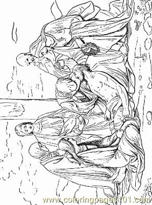 Jesus 1 Coloring Page