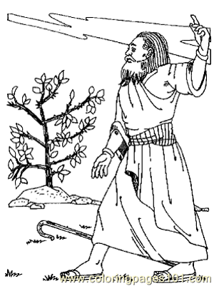 Moses 3 Coloring Page