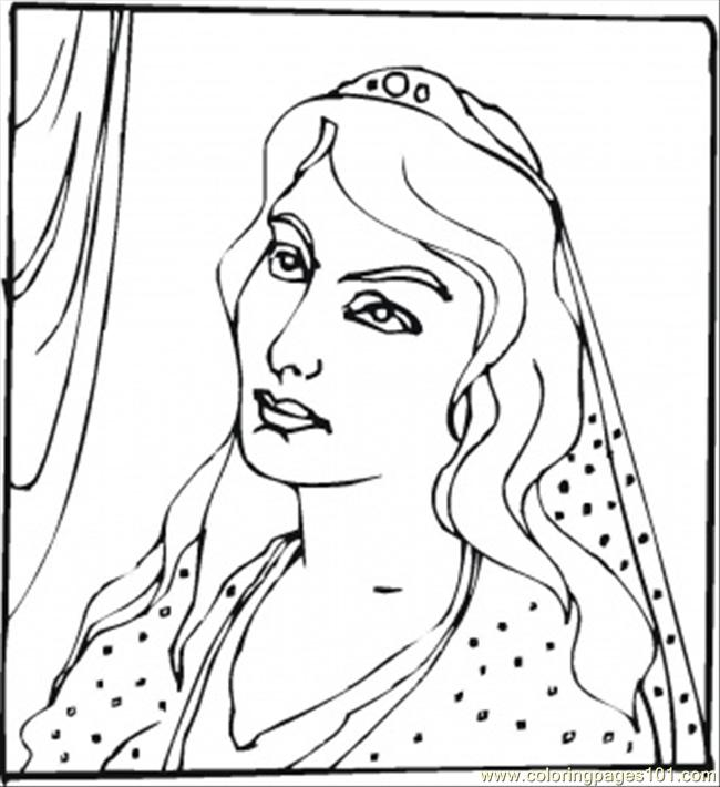 Queen Esther Coloring Page Free