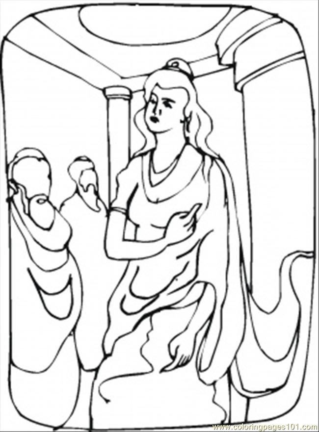 Queen Esther Is Making Speech Coloring Page