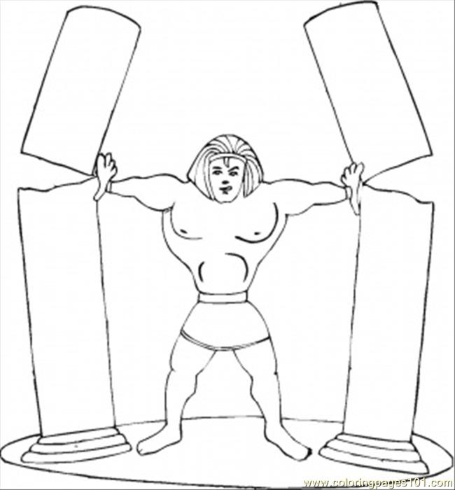 Strong Samson Coloring Page For Kids Free Religions Printable Coloring Pages Online For Kids Coloringpages101 Com Coloring Pages For Kids