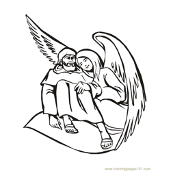 001 Angels 14 Free Coloring Page for Kids