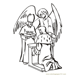 001 Angels 15 Free Coloring Page for Kids