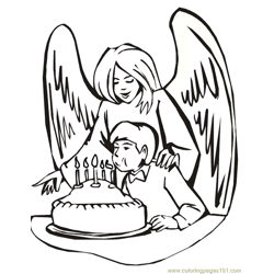 001 Angels 20 Free Coloring Page for Kids