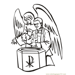 001 Angels 22 Free Coloring Page for Kids