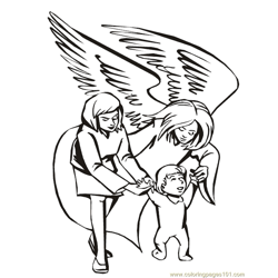 001 Angels 23 Free Coloring Page for Kids