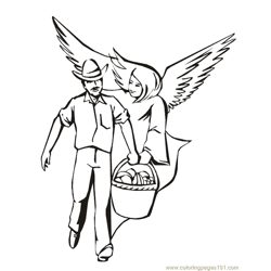 001 Angels 24 Free Coloring Page for Kids