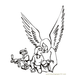 001 Angels 25 Free Coloring Page for Kids