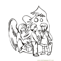 001 Angels 27 Free Coloring Page for Kids