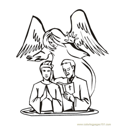 001 Angels 28 Free Coloring Page for Kids