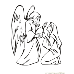 001 Angels 2 Free Coloring Page for Kids