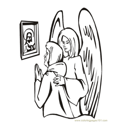 001 Angels 33 Free Coloring Page for Kids