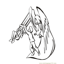 001 Angels 37 Free Coloring Page for Kids
