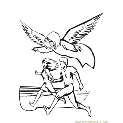 001 Angels 7 Free Coloring Page for Kids