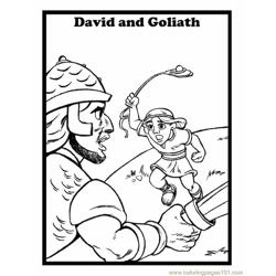 001 David And Goliath 7 Free Coloring Page for Kids