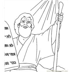 001 Moses 16 Free Coloring Page for Kids