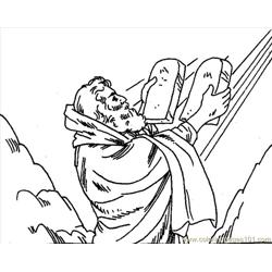 001 Moses 9 Free Coloring Page for Kids
