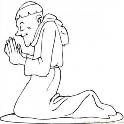 Monk At Prayer