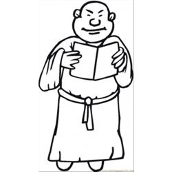 Monk Is Reading Prayer