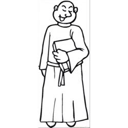 Monk With Bible