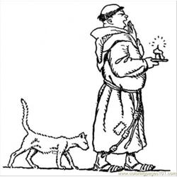 Monk With A Dog