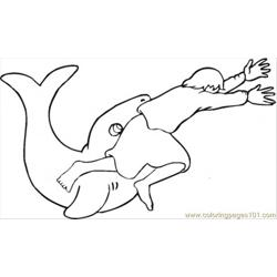 Story Of Jonah And Whale Free Coloring Page for Kids