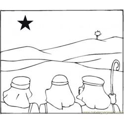 Wise Men Are Following The Star Free Coloring Page for Kids