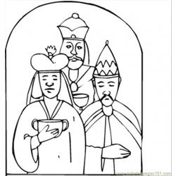 Wise Men Came With Gifts To Worship Little Jesus