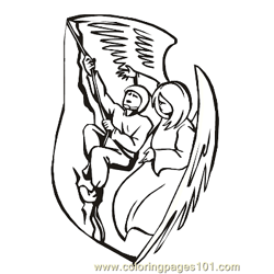 Angels 11 Free Coloring Page for Kids