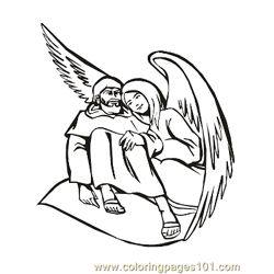 Angels 14 Free Coloring Page for Kids