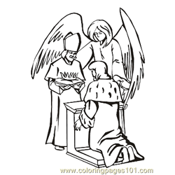 Angels 15 Free Coloring Page for Kids