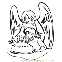 Angels 20 Free Coloring Page for Kids