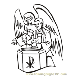 Angels 22 Free Coloring Page for Kids