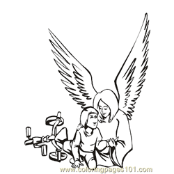 Angels 25 Free Coloring Page for Kids