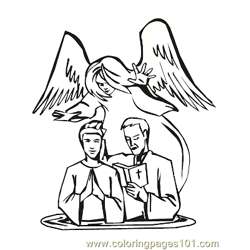 Angels 28 Free Coloring Page for Kids