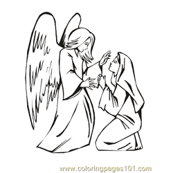 Angels 2 Free Coloring Page for Kids