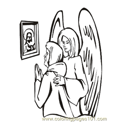 Angels 33 Free Coloring Page for Kids