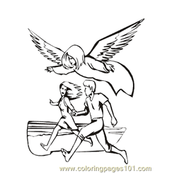 Angels 7 Free Coloring Page for Kids