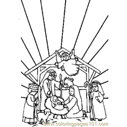 Bible 12 Free Coloring Page for Kids