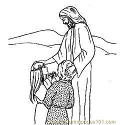 Bible 1 Free Coloring Page for Kids
