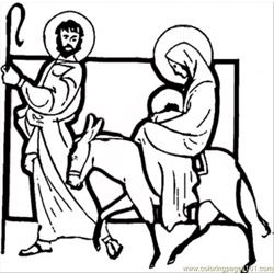 Carrying Jesus Coloring Page
