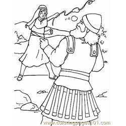 David And Goliath 4 Free Coloring Page for Kids