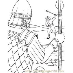 David And Goliath 6 Free Coloring Page for Kids
