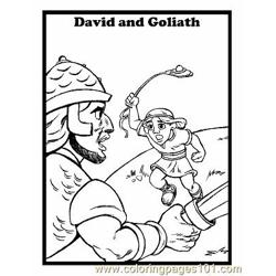 David And Goliath 7 Free Coloring Page for Kids