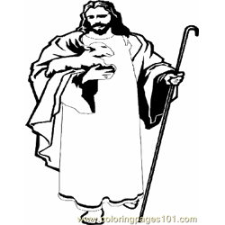 Jesus 10 Free Coloring Page for Kids